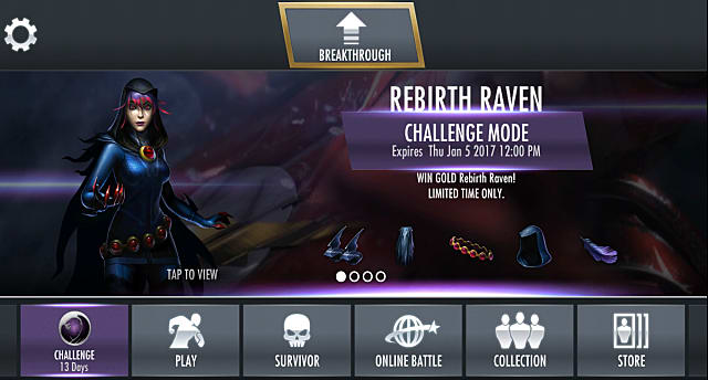 Injustice Mobile Rebirth Raven Challenge Mode Injustice Gods