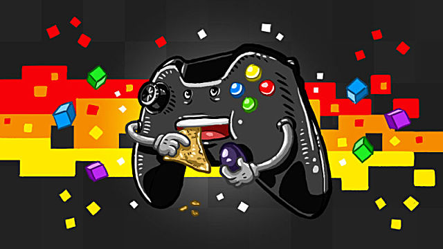 eating game controller