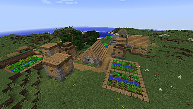 This Minecraft island village has massive amounts of resources