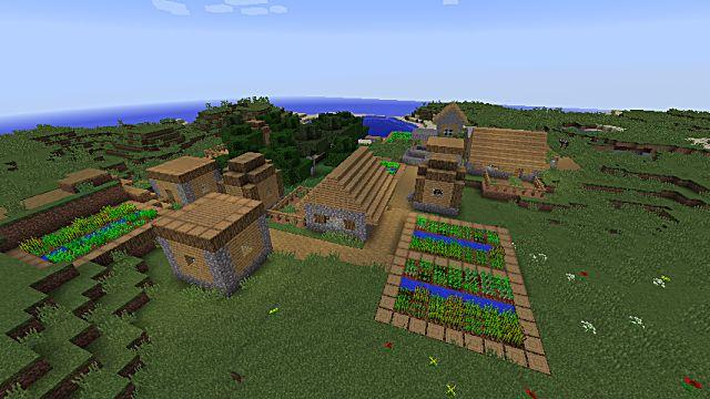This Minecraft island village has massive amounts of resources