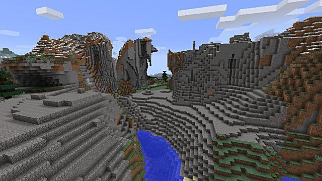 Extreme hills in Minecraft