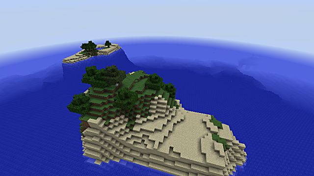 Small islands in Minecraft