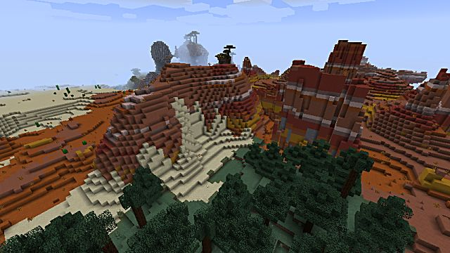 Mesa biome in Minecraft