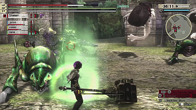 God Eater 2 Rage Burst battle