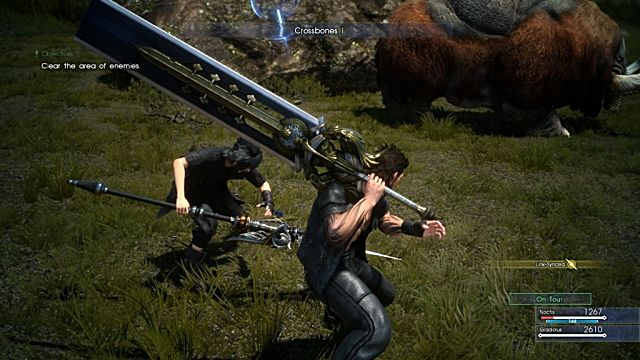 Final Fantasy XV battle