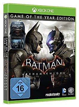 Batman: Arkham Knight - Game of the Year Edition box art via IGN