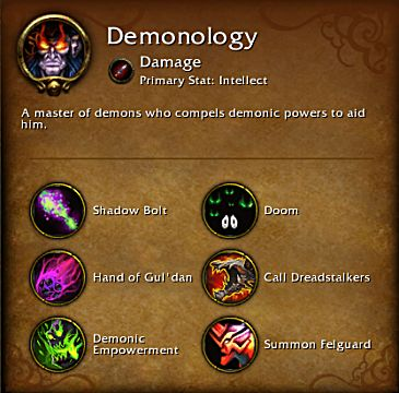 World of Warcraft Legion Demonology spec