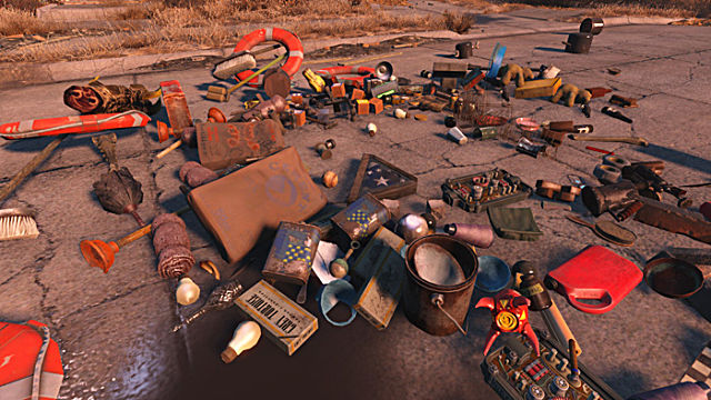 Debris scattered about in Fallout 4