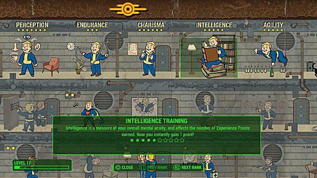 The S.P.E.C.I.A.L. options in Fallout 4