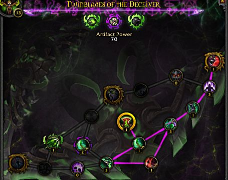 wow legion havoc demon hunter artifact weapon traits