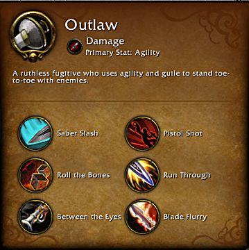 World of Warcraft Legion Outlaw spec