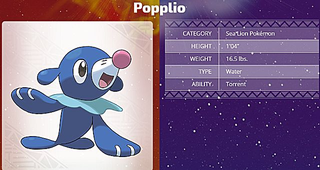 Pokemon Sun and Moon starter Popplio