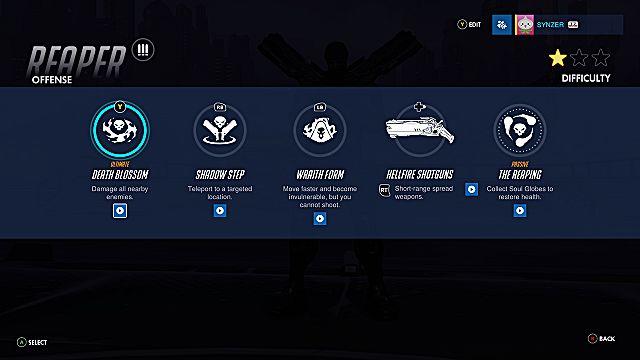 Overwatch Reaper abilities