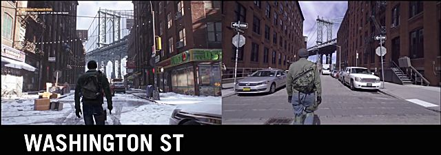 Washington Street in The Division vs. Washington Street in real life