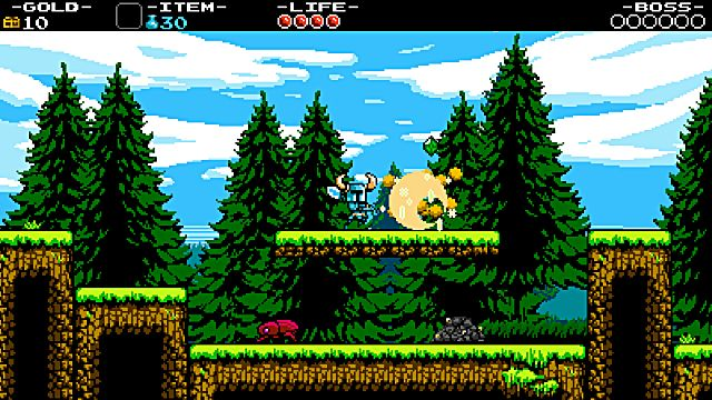 Shovel Knight maintaining his routine duties.
