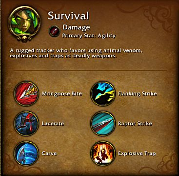 World of Warcraft Legion Survival spec