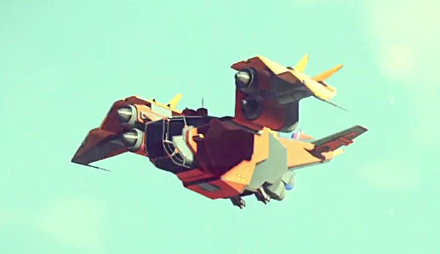 No Man's Sky trader ship