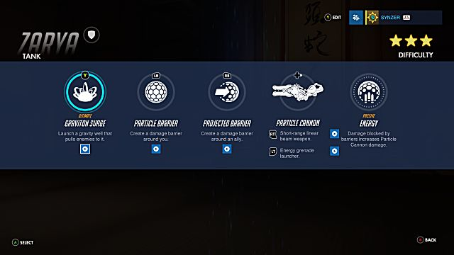 Overwatch Zarya abilities