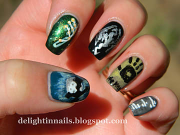 Neat Video Game Inspired Nail Art