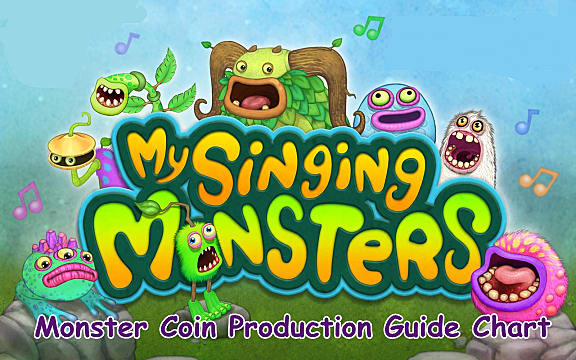 My Singing Monsters - Monster Coin Production Guide Chart