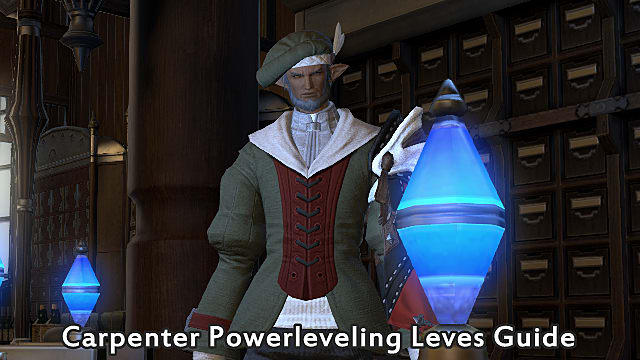 FFXIV - Carpenter Powerleveling Leves Guide   Final Fantasy XIV