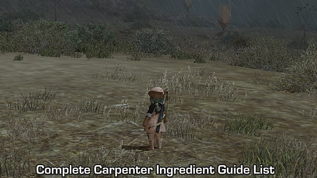 FFXIV - Complete Carpenter Ingredient Guide List | Final