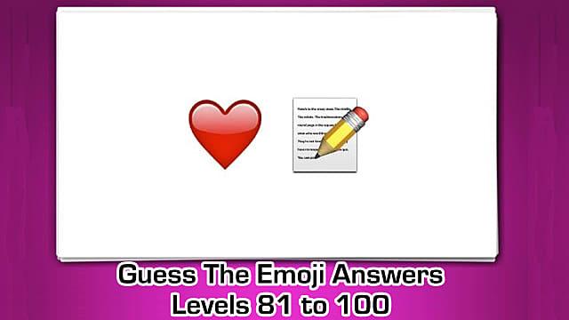 Guess The Emoji Emoji Pops Answers Levels 1 Through 20 Guess