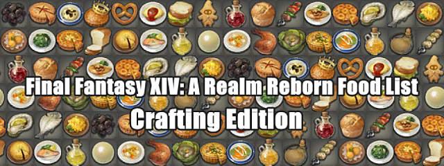 Ffxiv Hq Crafting Food