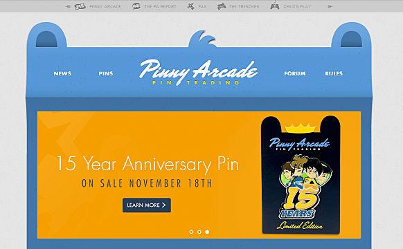 pinny arcade debuts website