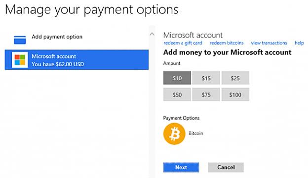 microsoft allows bitcoin transactions for xbox  windows