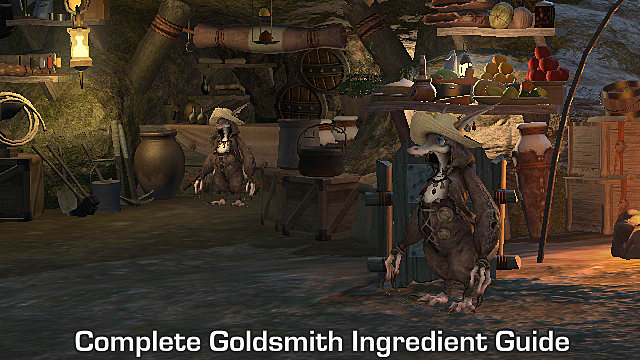 FFXIV - Complete Goldsmith Ingredient Guide List | Final Fantasy XIV
