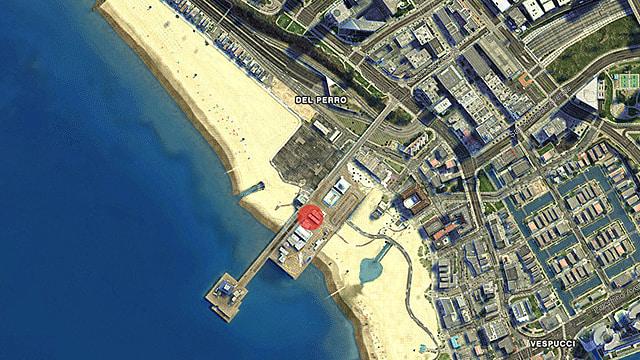 Del Perro Pier GTA Online map