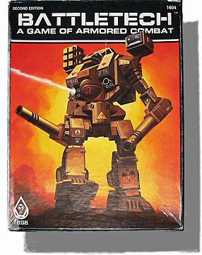 box art from old Battletech tabletop game