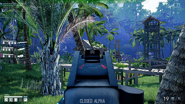 The lush jungle setting of Island of Nyne is reminiscent of Ubisoft's Far Cry series