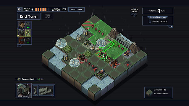 Testing a dam in Into the Breach