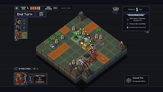 Players fight for supremacy based on strategy and tactics in Into the Breach