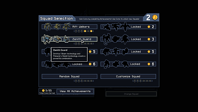 Choosing an Into The Breach starting squad
