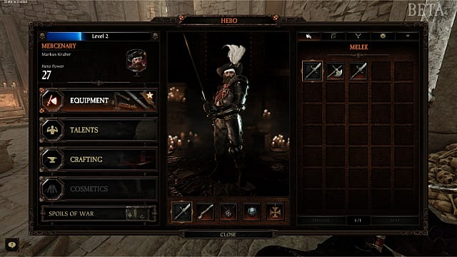 Upgrading your character's power level in Vermintide 2