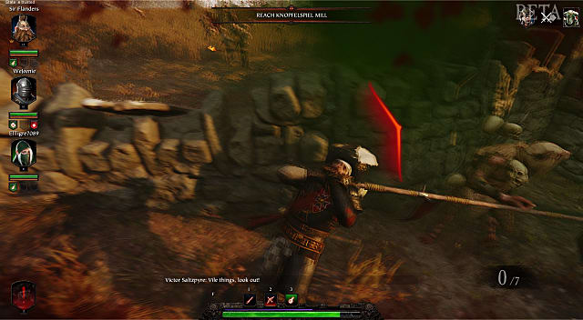 Getting attacked from all sides by a variety of nasty enemy types in Warhammer Vermintide 2