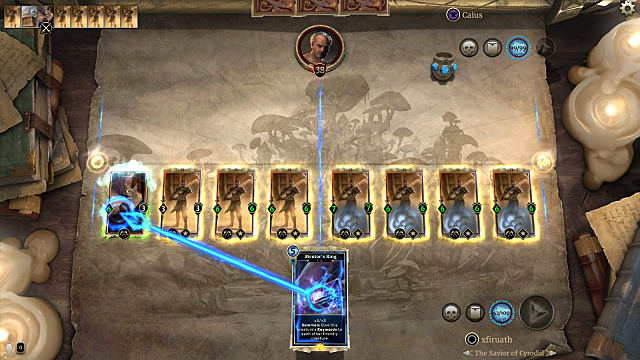 Screen shot from the Redoran Mastery puzzle in Elder Scrolls Legends Houses of Morrowind