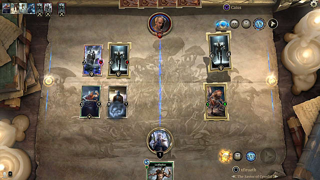 Image from a battle during the Dagoth Mastery Puzzle in Elder Scrolls Legends Houses of Morrowind