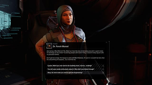 Dr. Farah Murad and some of her bio in a text box