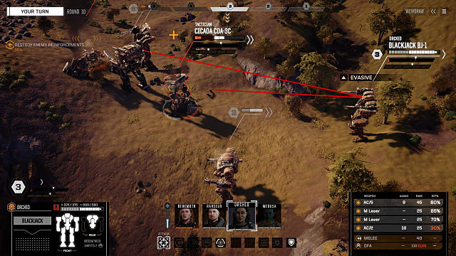 mechs working out their angles of attack