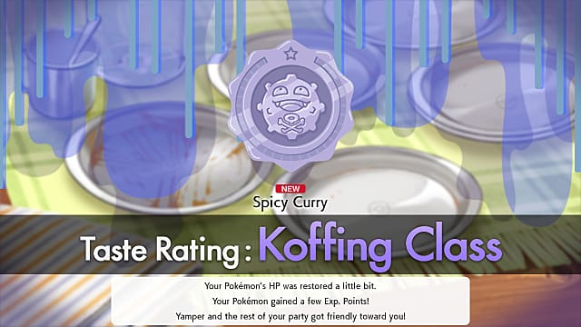 Pokemon Sword and Shield curry rating for Koffing Class.