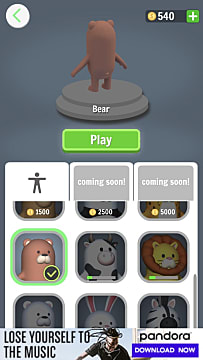 The bear skin in Aquapark.io