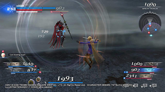 Leviathan in the midst of battle in Dissidia