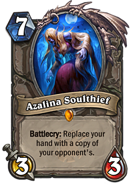 Azalina Soulthief from new Hearthstone expansion The Witchwood
