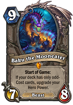Baku the Mooneater card from Hearthstone The Witchwood