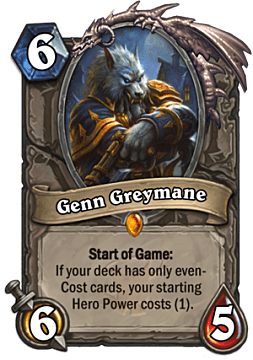 Genn Greymane card from Hearthstone Witchwood