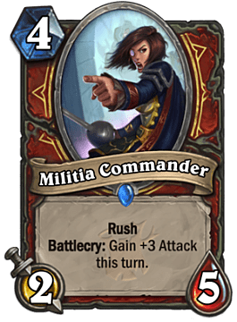 Militia Commander card in Hearthstone The Witchwood